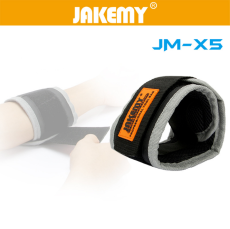 JAKEMY JM-X5 Magnetic Wristband Bracelet Belt Repair Tool Pocket for Holding Screw / Nail / Drill Bit