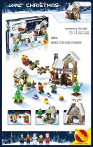 JJRC 1001 1002 1003 Winter Christmas Building Blocks X-MAS Gift 3D Puzzle Kids Educational Bricks DIY Assembling Classic Toy