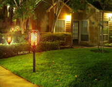 Waterproof Solar Torch Lamp 96 LEDs Flickering Flame Light for Garden Pathways