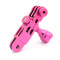 CNC Aluminum Three-Way Pivot Arm Mount Adapter Pink for Gopro HD Hero 2 3 Camera  GITUP GIT1 GIT2