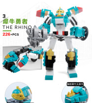 KAZI Building Blocks Sacred Rescue Team Transformers THE RHINO 226PCS Children's educational toys for Boys