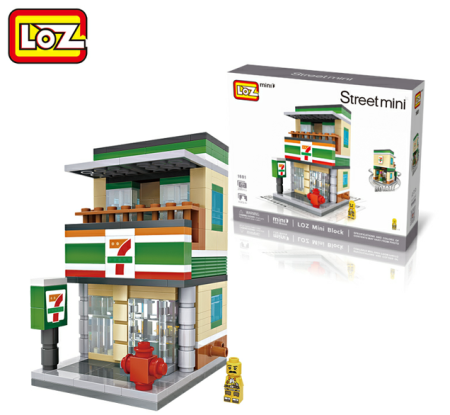LOZ Small building blocks Business Streetscape Children's educational toys for Boys Girls