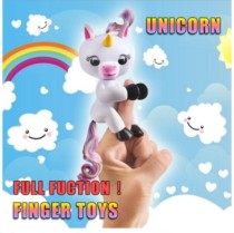 2017 Finger Unicorn Rainbow Interactive Fingers Electronic Motion Pet Toy Smart