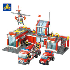 Fire Station Building Blocks Model Bricks Toys Compatible with legoe city Firefighter Educational 774+pcs For Kids Children