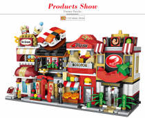 Original LOZ Blocks Building Blocks Toy Architecture City Shop Street Mini Model Funny Bricks Kids Assembly Toys for Children