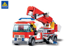 Fire Truck Model Blocks 244pcs Bricks Building Blocks SetsAction Figure Deformation Education Toys For Children Kids Gift