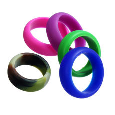 1Pcs Silicone Wedding Ring Men Women Rubber Band Comfortable Elegant Flexible