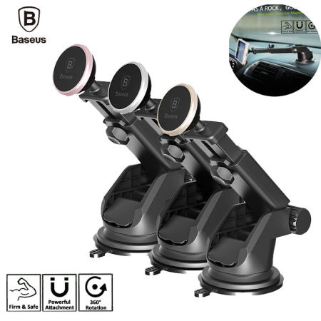 Baseus Rotating 360° Magnet Telescopic Mount Car Dash Phone GPS Holder Bracket