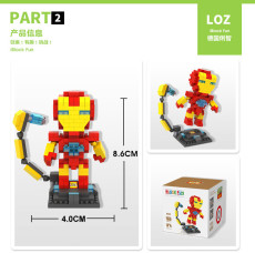 LOZ Super Heroes Anime Diamond Cute Building Blocks Educational Action Figures Bricks Toys for Children Boys Christmas Gifts