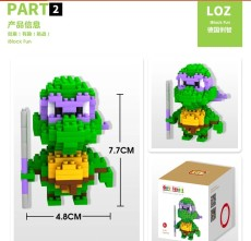 LOZ Anime Diamond Block Plastic Cute Turtle Building Blocks Action Figure Bricks Educational DIY Toy Gifts for Children