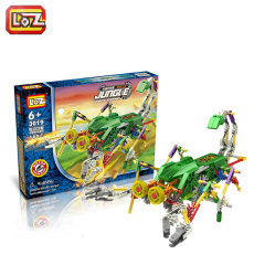 LOZ Electric Building Block Robotic Robot Combined Jungle Action Model Toys DIY Christmas Birthday Gifts for Children