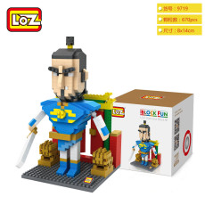 LOZ Diamond Building Blocks Cartoon Action Figures Chinese Door God DIY Educational Toys for children Boys Girls Gifts Christmas