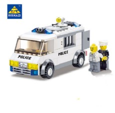 City Police Series Prisoner Transport Block Prison Van Playmobil Model Bricks Building Blocks Education Toys 135pcs For Children