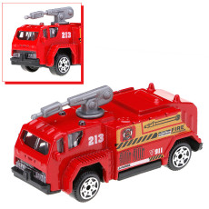 JMT 1:87 Mini Diecast Alloy Car Toys Set 6 Pcs Miltary Fire Truck Swat Vehicle Machines Toys for Kids Boys