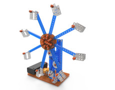 DIY Assembly Toy Kit Electric Ferris Wheel Model Kids Children 3D Puzzle Toys 8*7*7cm Mechanical Educational Experiment Building