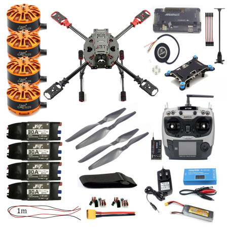 Full Set FPV DIY 2.4GHz 4-Aixs RC Drone ARF APM2.8 Flight Controller M7N GPS 630MM Carbon Fiber Frame Props with AT9S TX Quadcopter