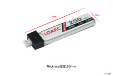 LDARC 1S 250mAh 3.8V 30C High Voltage Lipo Battery for TINY 6X FPV Racing Drone RC Racer Quadcopter