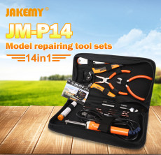 JAKEMY 14Pcs Repair Tools Kit For DJI phantom 4 Helicoper UAV Glider Electronic Maintenance Tools Set JM-P14