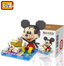 LOZ Building Blocks Figure Mirco Brick Anime Action Figures Animals Toys Pixels Mouse Duck Dog Diy Assembly Model Gifts for Kids
