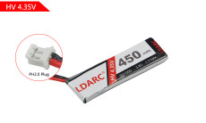 KINGKONG LDARC 450mAh 3.8V 50C Lipo Battery For TINY7X FPV Racing Drone Quadcopter RC Racer