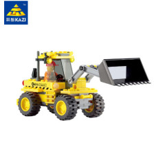 Engineering City Construction Bulldozer Blocks Bricks Building Blocks Education Toys Playmobile Model 117pcs For Child Kid Gift