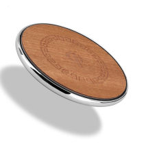 Fast Wireless Charger Metal With Wood Wireless Charging Pad For iPhone X Samsung