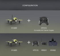 QWinOut Hubsan H122D X4 5.8G FPV Micro Racing RC Camera Drone Quadcopter W/ 720P Camera Goggles