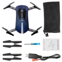 QWinOut Upgraded version JY018 WIFI Quadcopter With 200W WIFI 120 Degrees Wide Angle Camera Foldable Arm Altitude Hold RC Mini Quadcopter Selfie Pocket Drone Royal Blue Color