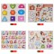 30cm Kid Early Educational Toys Baby Hand Grasp Wooden Puzzle Alphabet & Digit Learning Education Wood Jigsaw Toys for Children