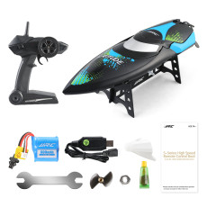 JJRC S3 Latitude RC Boat Speedboat 2.4GHz 2CH Portable Mini Remote Control Ship Self-Righting High Speed 25km/h Toys for Children