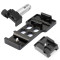CNC Aluminum 20mm Side Rail with fix Mount Super Mini Rail Mount for Gopro Xiaoyi Gitup Action Camera