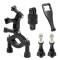 Accessories Set for Gopro Action Camera Motorcycle Fixed Bracket 360° Rotating Bracket