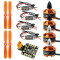 Combo Set for 250 210 RC Drone : 4x 1806 2400KV Brushless Motor + Mini BLHeli OPTO 16A ESC + 5045 Propellers CW CCW with PDB BEC