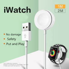 Magnetic Wireless Charger For Apple Watch Automatic usb cable Charging 32mm & 42mm for iWatch 2 3 adapter Charger 1M/2M
