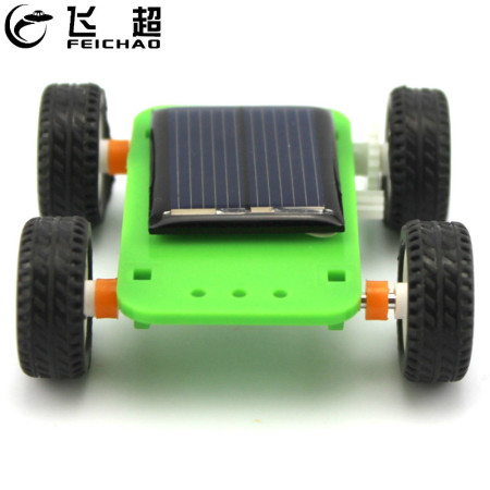 Mini Solar Power Toy DIY Car Kit 4WD Vehicle Puzzle IQ Hobby Gadget Assembled Science Model Toys for Children Funny Gift