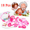 18Pcs Doctor Play Hospital Simulation Toys Set Child Kids Toy Medical Kit Baby