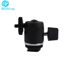 Aluminum Tripod Head Rotatable 360 Degree Camera Ballhead Ball Head Hot Shoe Adapter to 1/4 Screw Mount Flash Light Accessories