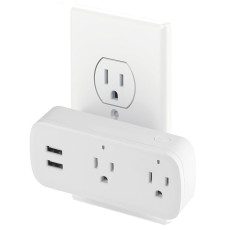 MingChuan Wi-Fi Smart Plug Dual Outlet and 2 USB Ports Work with Alexa and Google Home and IFTTT Dual Remote and Voice Control Switch Outlets 10A Timer Socket