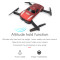 GW186 Selfie Foldable Drone Folding Wifi 0.3MP Camera FPV Phone Voice Control Pocket Dron RC Quadcopter Altitude Hold VS JY018