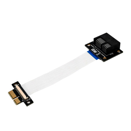 XT-XINTE PCI-E PCI Express 36Pin 1X Adapter Extender Flexible Printed Circuit Extension Cable Horizonal Installation Connector