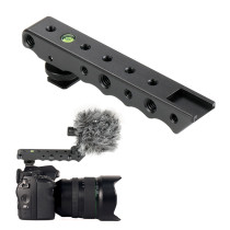 Video Top Handle Grip Stabilizing w/ Cold Shoe Extender 1/4  3/8  + Bubble Level for Canon for Nikon Sony DSLR Camera Camcorder