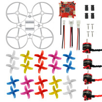75mm Mini Indoor RC Racing Drone Combo Set Bwhoop75 Frame Kit & Crazybee F3 FC ESC & 1S KV19000 Motor & 40mm 4-Blades Propeller