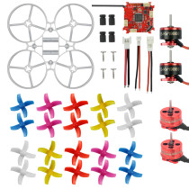 75mm Indoor Brushless Whoop Racer Drone Combo Set Mini Frame Kit & Crazybee F3 FC ESC & SE0703 Motor & 40mm 4-Blades Propeller