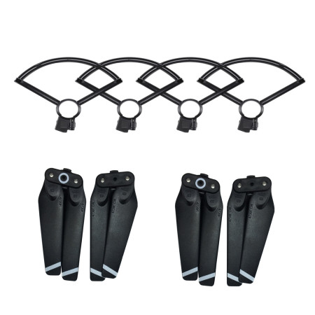 ShenStar 4Pcs/Set Combo 4730 4730F Foldable Quick Release Propeller + Props Guard Ring Protective Bumper Cover for DJI Spark Drone Parts
