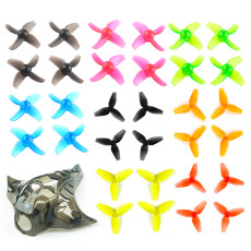 Happymodel Mobula7 Mobula 7 Propeller Set 40mm 4-blade 3-Blade Props Color Set with Camera Cover for FPV Racing Drone Quadcopter