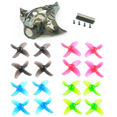 Happymodel Mobula7 Mobula 7 Spare Parts Replacement Propeller 40mm 4-blade Props Color Set with Camera Cover