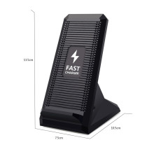 FCLUO 10W Fast Wireless Charger Qi Stand Dock Fan Cooling Wireless Charging Pad Holder for iphone 8 X XS XR for Samsung Galaxy S9 S8