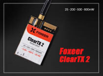 Foxeer ClearTX 2 5.8G 48CH 25/200/500/800mW Remote Control VTX for FPV Racing Drone Quadcopter Multi-rotor Aircraft (antenna is excluded)