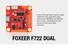 Foxeer F722 AIO F7 Dual Gyro 6S Flight Controller FC for FPV Racing Drone Quadcopter Multi-rotor Aircraft