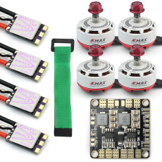 jmt Mini RC Racing Drone 4x EMAX RS2306-2750KV & Mini ESC Dshot BLS Bullet 30A Brushless Motor ESC Combo + Power Distribution Board